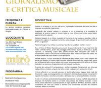 Corso di giornalismo e critica musicale